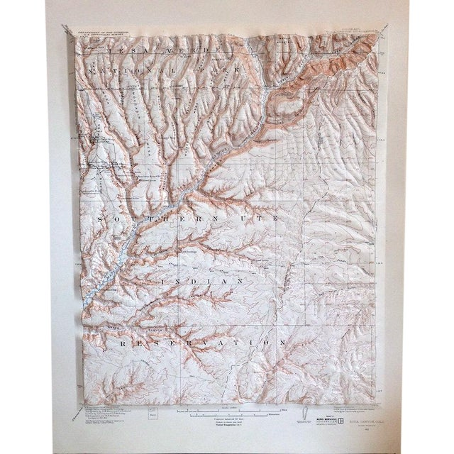 Vintage Relief Map of Soda Canyon Colorado - Image 1 of 6