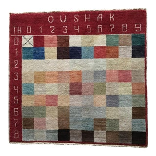 Tufenkian Weavers Hand Knotted Color Sampler Rug - 3′8″ × 3′8″