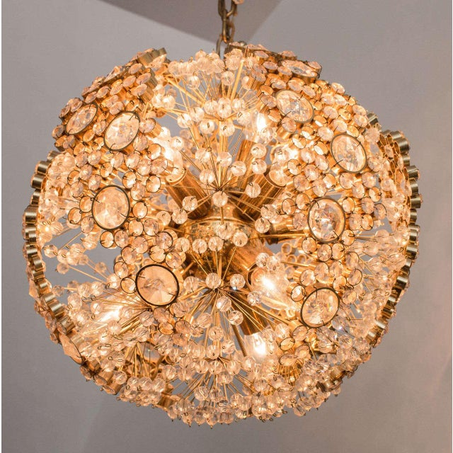Gilt Brass J.L. Lobmeyr Chandelier - Image 2 of 9