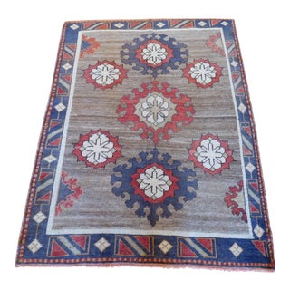 "Vintage Turkish Oushak Rug - 3'6"" x 4'7"""