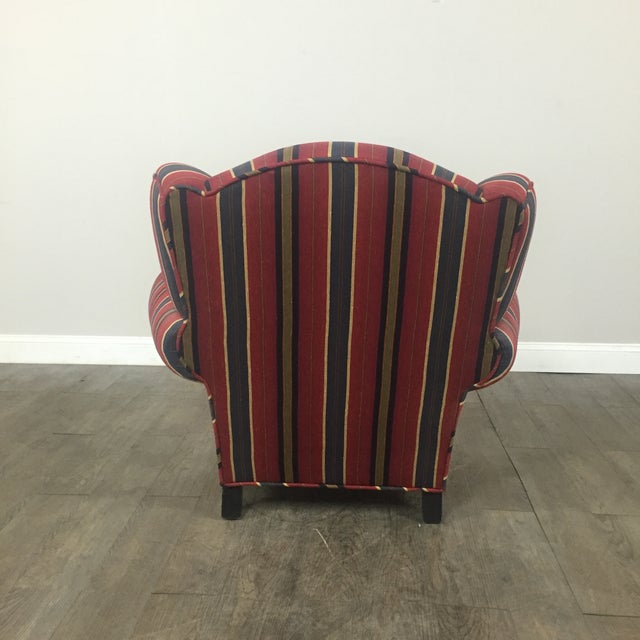 Kravet Club Chairs - A Pair - Image 6 of 11