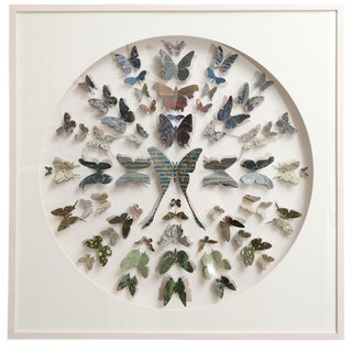 Antique Marbled End Paper Butterflies