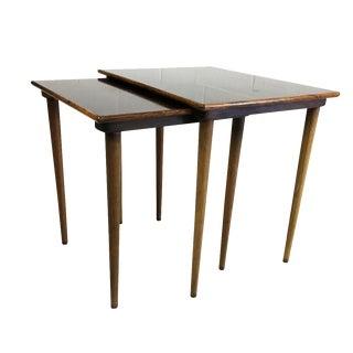 Mid-Century Modern Nesting Rosewood Tables - Pair