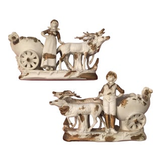 Bisque Figurines From Germany - A Pair