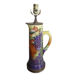 Limoge Colorful Lamp With Grape Motif