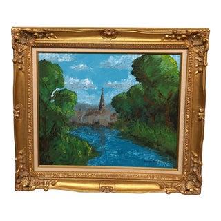 Alexandre Renoir Framed Impressionist Landscape Painting