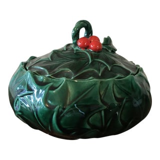Holly & Berries Holiday Candy Dish