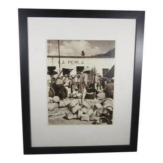 Mounted Photograph of Mexican Basket Maker