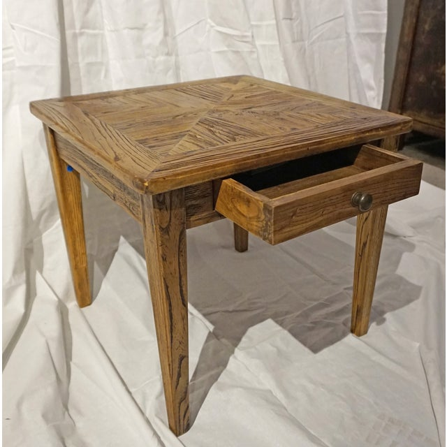 Reclaimed Wood Side Table - Image 4 of 5