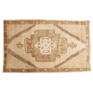 Vintage Turkish Oushak Carpet - 6′2″ × 10′2″