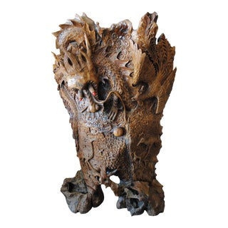Chinese Hand-Carved Wood Sculpture