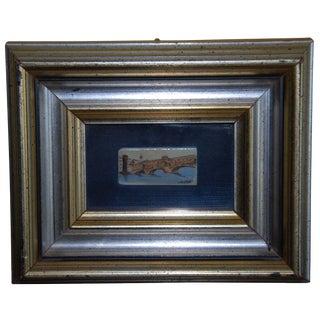 Ponte Vecchio Miniature on Ivory Piano Key