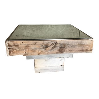 Reclaimed Mirrored Coffee Table