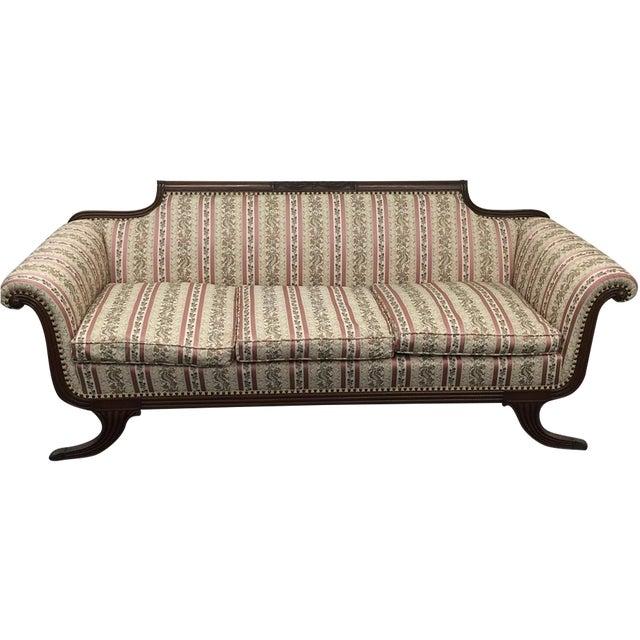 Image of Vintage Patterned Duncan Phyfe Sofa