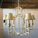 Image of Metal Faux Bamboo Pagoda Chandelier with Bells
