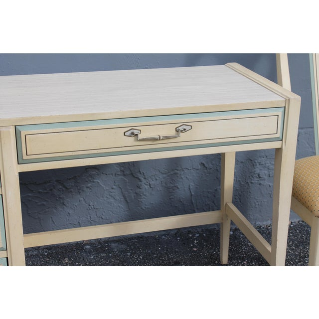 1960s Vintage Mid Century Modern Writing Desk & Chair - Image 6 of 10