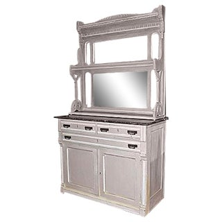 Painted Antique American Buffet