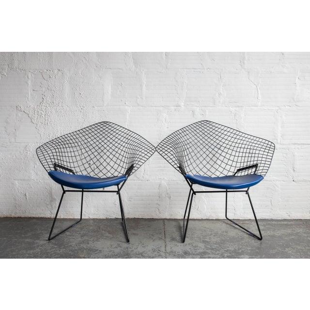 Knoll Bertoia Black Diamond Chairs- Pair - Image 2 of 7