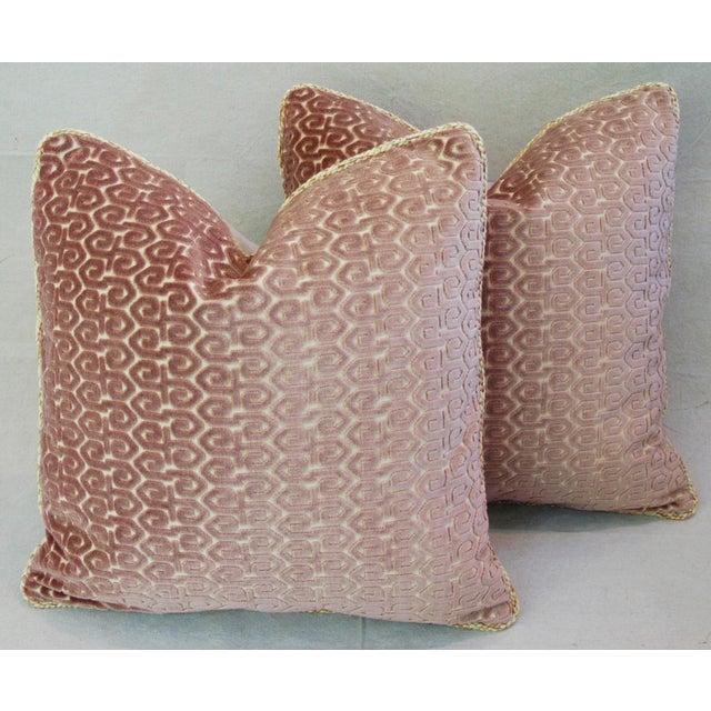 Designer Old World Weavers Velvet Pillows - A Pair - Image 2 of 11