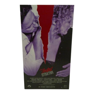 "1988 Vintage Movie Window Card for ""Fatal Attraction"""
