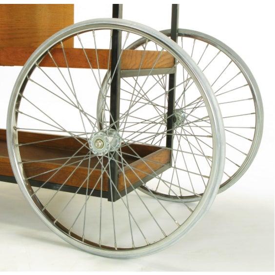 Bill W. Sanders Mid-Century Rolling Bar Cart - Image 7 of 10