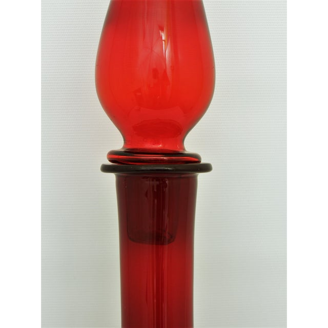 Vintage Italian Murano Red Glass Decanter - Image 6 of 11