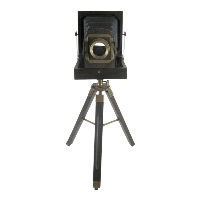 Brass And Wood Tripod Replica 1800's Box Camera - Image 1 of 9
