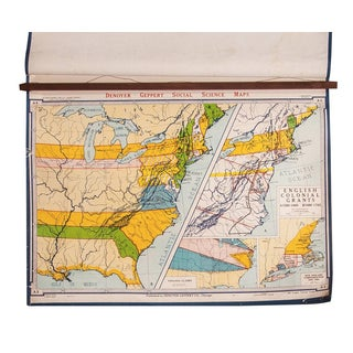 Vintage English Colonial Grants Map