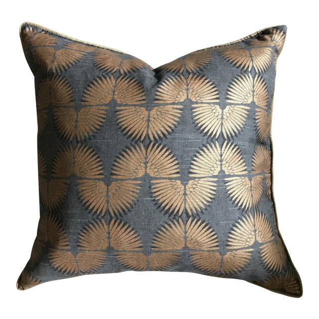 Gray & Copper Art Deco Pillow - Image 1 of 5