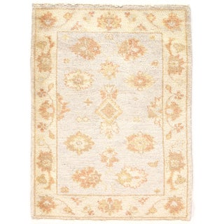 Hand Knotted Oushak Rug - 2′3″ × 2′11″