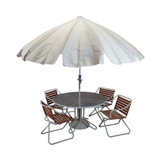 Mid-Century Brown Jordan Aluminum Patio Set