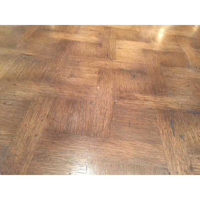 French Country Parquetry Top Dining Table - Image 5 of 6