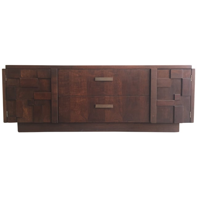 Wood Console Table - Image 1 of 6