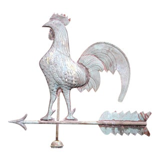 French Tole Rooster Weathervane