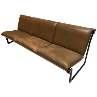 Three-Seat Leather Sling Sofa