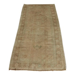 Vintage Turkish Oushak Rug - 2′10″ × 6′3″