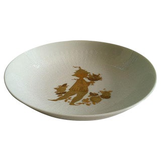 Danish Gold Leaf Art Bowl