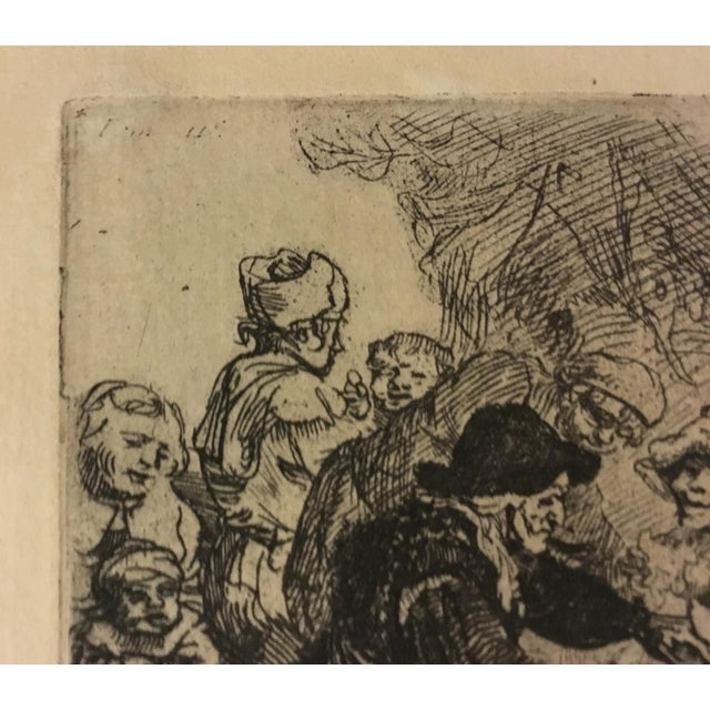 "Rembrandt ""The Pancake Woman"" Original Etching - Image 7 of 9"