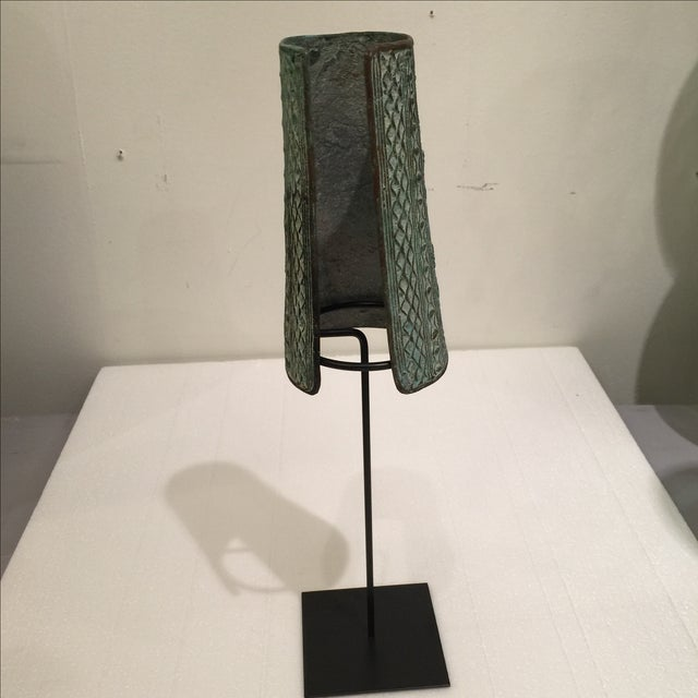 Bronze African Cuff on Stand - Image 5 of 5