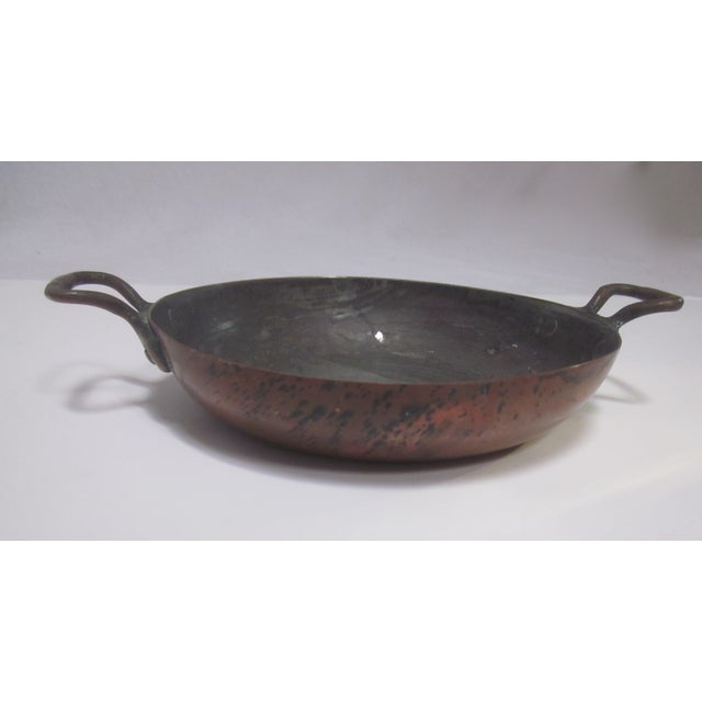 Vintage French Copper Pan Pot - Image 4 of 9