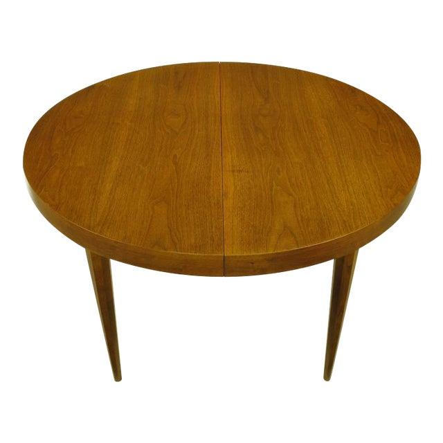 Sleek Modern Walnut Dining Table in the Style of T.H. Robsjohn-Gibbings - Image 1 of 7
