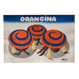 Vintage Orangina Poster by Bernard Villemot