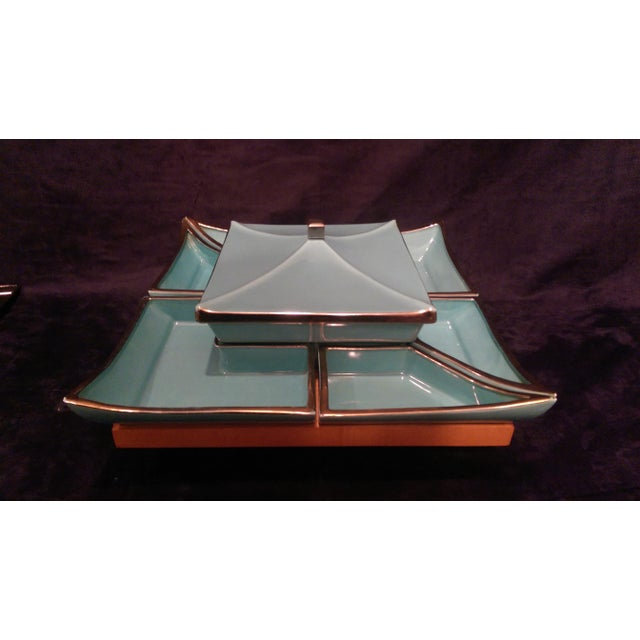 Mid-Century Asian Lazy Susan Serving Set - Image 3 of 10
