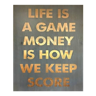 """Life Is a Game"" Painting"