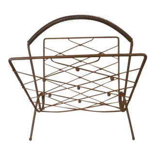 Mid-Century Gold Magazine Rack