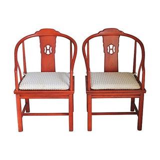 Henredon Chinoiserie Armchairs - A Pair