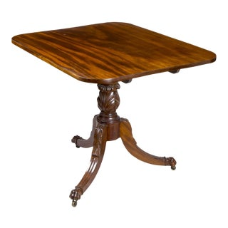 Mahogany Neoclassical Tilt-Top Table