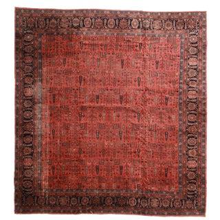 RugsinDallas Antique Turkish Sparta Hand Knotted Wool Rug- 14′3″ × 15′3″