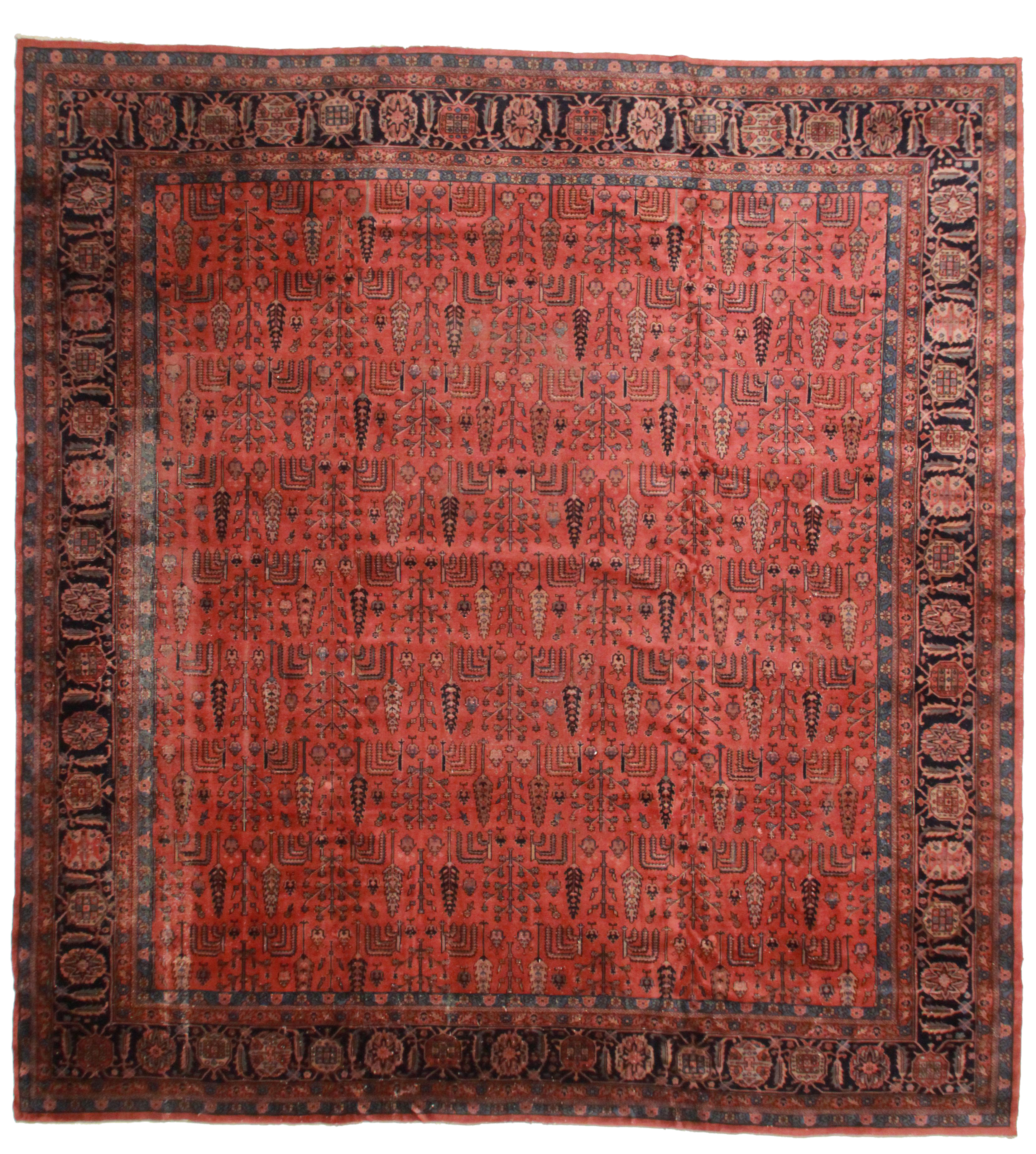 Delightful RugsinDallas Antique Turkish Sparta Hand Knotted Wool Rug  14u20323u2033 × 15u2032