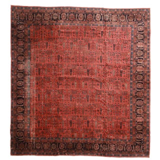 RugsinDallas Antique Turkish Sparta Hand Knotted Wool Rug- 14′3″ × 15′3″